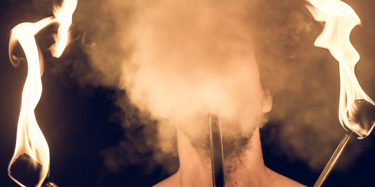 Felix Buerkle - Oliver Look - face behind smoke
